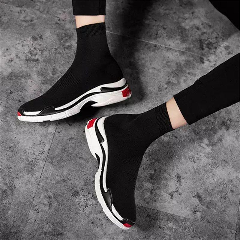 2021 Top Designer Männer Frauen Geschwindigkeit Trainer Socke Stiefel Socken Herren Trainer Boot Fashion Casual Balck Schuhe Schuh Rote Turnschuhe