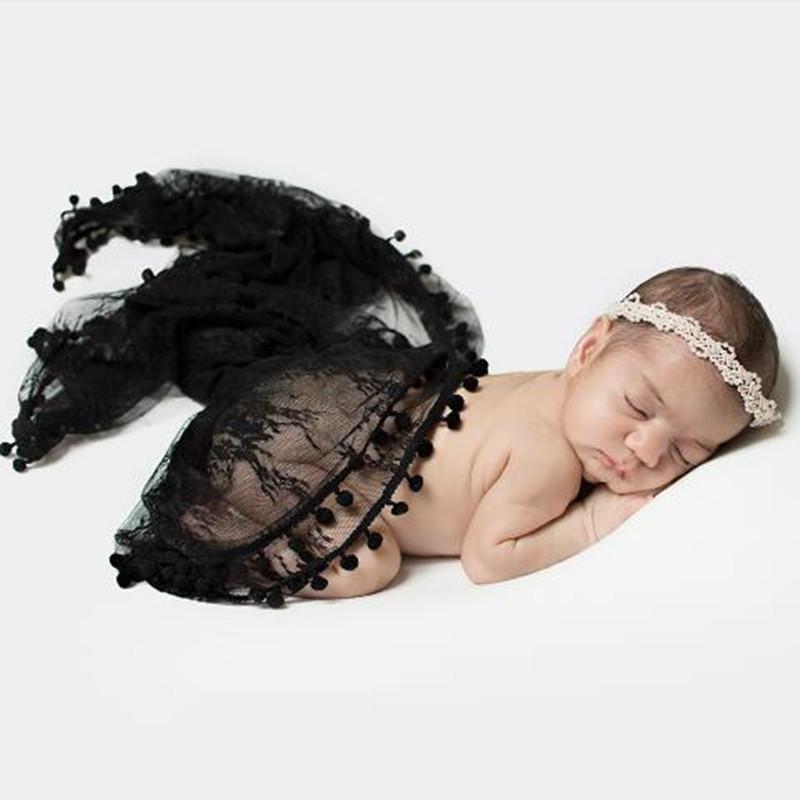 Одеяла Swaddling Born Pog Pog Pog Pog Pog Pog Spring Кружева Wraps Аксессуары Черный Одеял Слой Детская Растяжка PO Опора