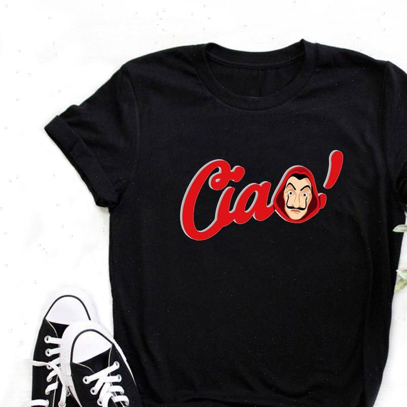Le donne T-magliette Casa di Carta Camicia Soldi Heist La Casa de Papel divertente Top Tee Fashion Female Estate