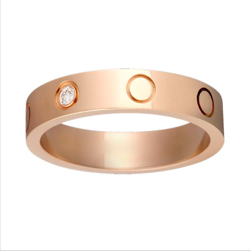 2021 gold love ring design for men fashion charm 316L stainless steel luxury rings screw designer jewelry wedding gift womens mens high end jewellery girl No fading