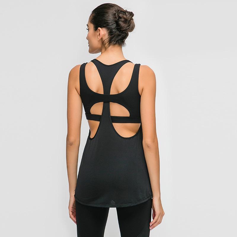 Emobless Yoga рубашки оба носить спортивные культуры Top Top Wringout Women L-169Sleaveless Fundbloe Fight Traves Athleтический фитнес жилет активной одежды