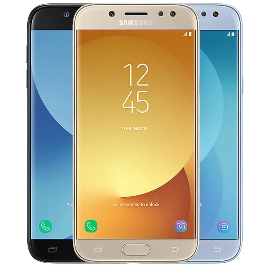 Original Refurbished Samsung Galaxy J5 2017 J530F Dual SIM 5.2 inch Octa Core 2GB RAM 16GB ROM 13MP 4G LTE Android Smart Mobile Cell Phone DHL 5pcs