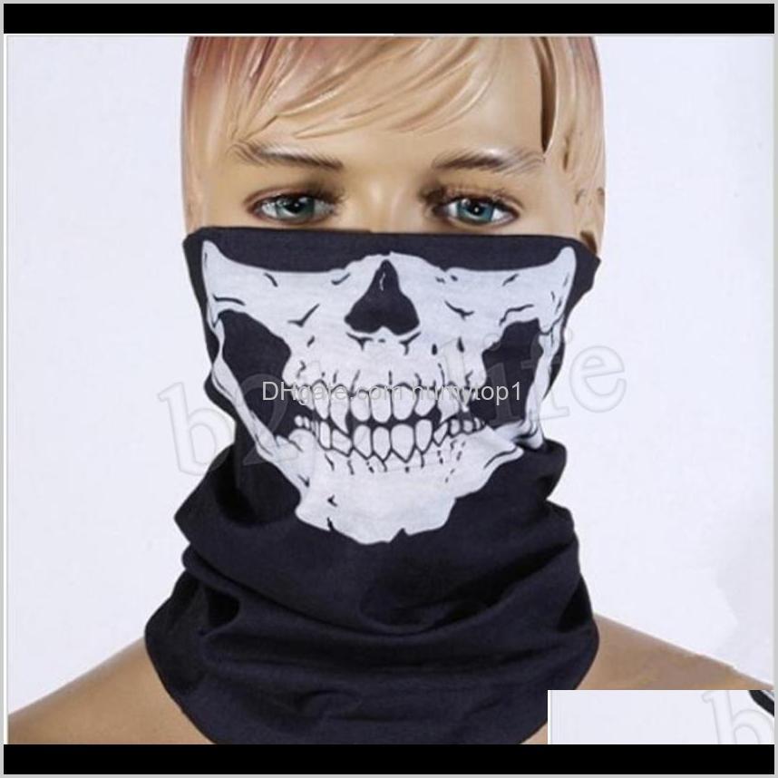 Tampas engrenagem protetora ao ar livre turbante mágico bandanas crânio face máscaras esqueleto esportes ao ar livre garganta lenços headband motor de ciclismo