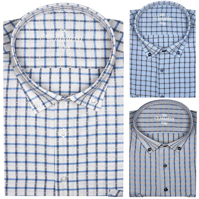 큰 크기 6 XL 옥스포드 셔츠 망 긴 소매 면화 캐주얼 셔츠 남성 격자 무늬 가슴 포켓 정규 맞는 남자 사회 칠면조 남자
