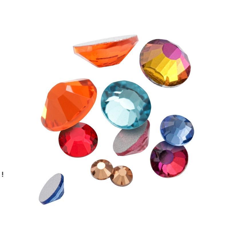 네일 아트 라인 석 크리스탈 마이크로 다이아몬드 플랫 백 접착제 고정 비 핫픽스 장식 의류 DIY 색상 x 1000pcs 2mm 3mm owe7164