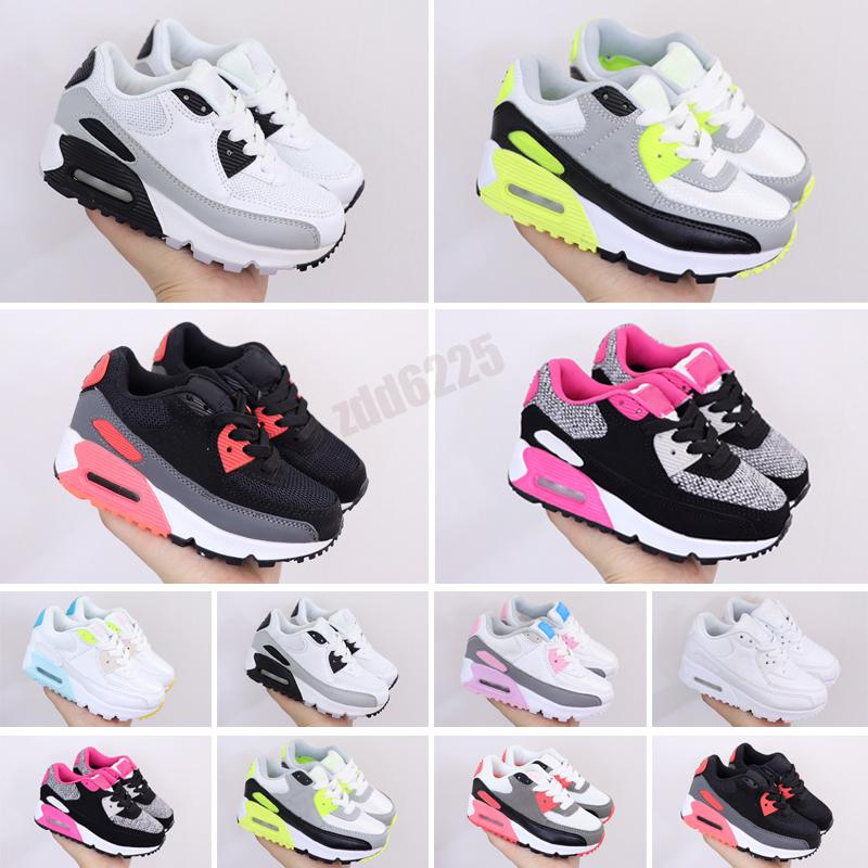 2021 Kids Athletic Shoes Children 90c Sneakers baby Mesh breathable half palm cushion boys girls Casual Trainers