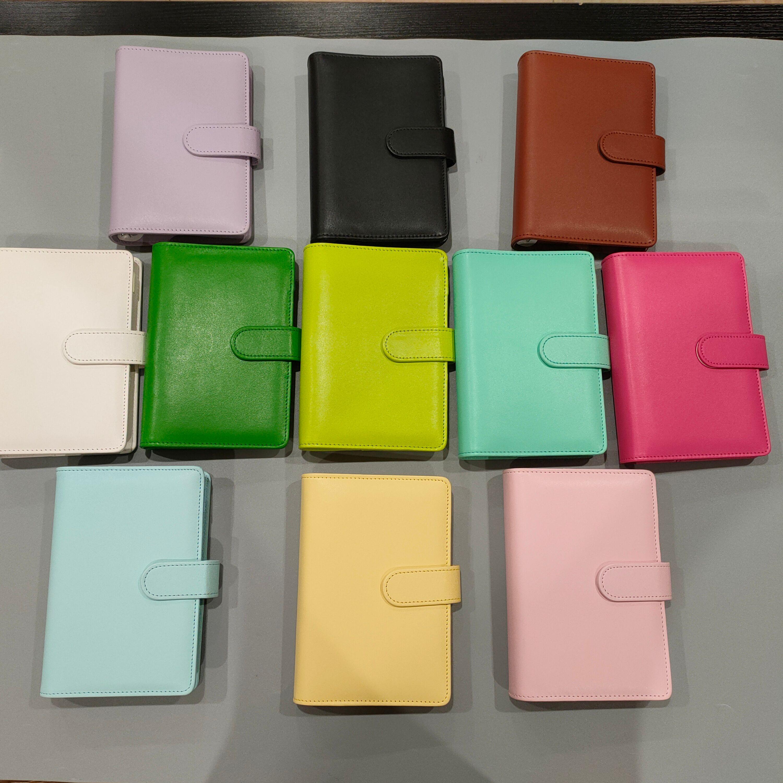 A6 Notebook vuoto Binder Notepads 19 * 13 cm Notebook a foglie sciolte senza carta PU Copertura in cuoio in cuoio PU File Folder Spirale Plannars Scrapbook