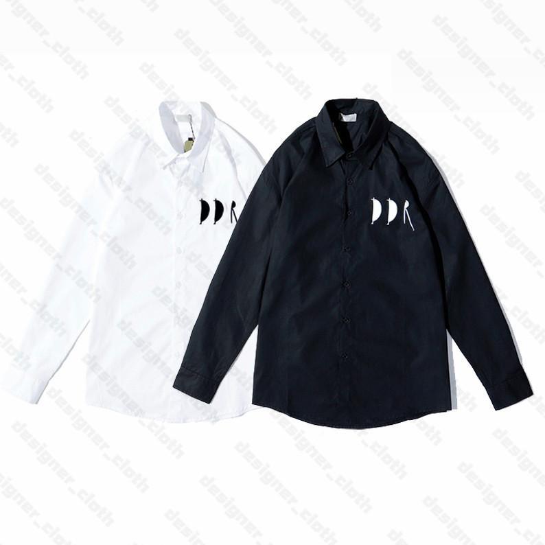 Erkek Womnes Tasarımcılar Gömlek Moda Casual Erkekler Slim Fit Uzun Kollu Iş Elbise Gömlek Şerit Kadın Adam Giyim Katı Renk Giysileri Hıristiyanlar 21ss