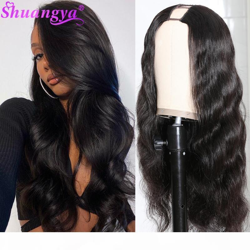 Shuangya hair U PART WIGS 100% Remy Human Hair Wigs Brazilian Virgin Body Wave QUICK & EASY AFFORDABLE Glueless