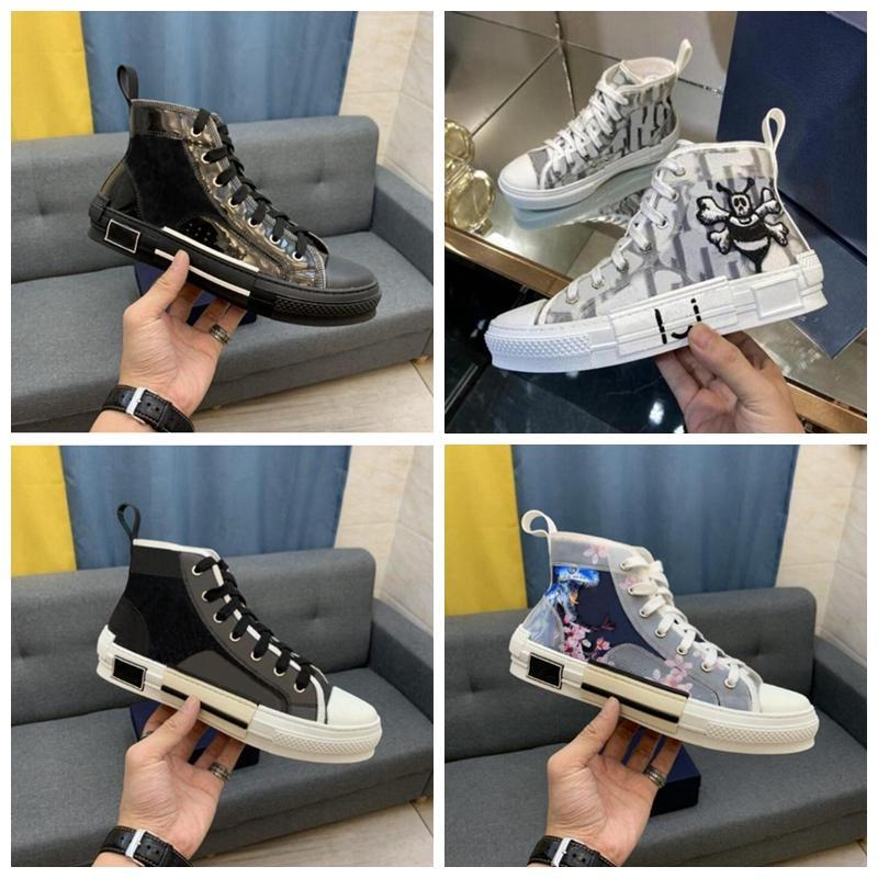 Scarpe Designer Sneakers di lusso Oblique Mens Sneaker Tecnica Tecnica in pelle da donna Casual Shoe Top Quality with Box Lusurys Trainer 50 colori Mix Order
