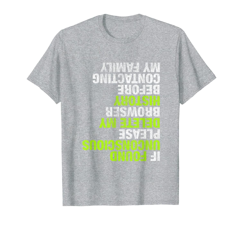 Funny Skateboarder Design DELETE MY HISTORY T-Shirt