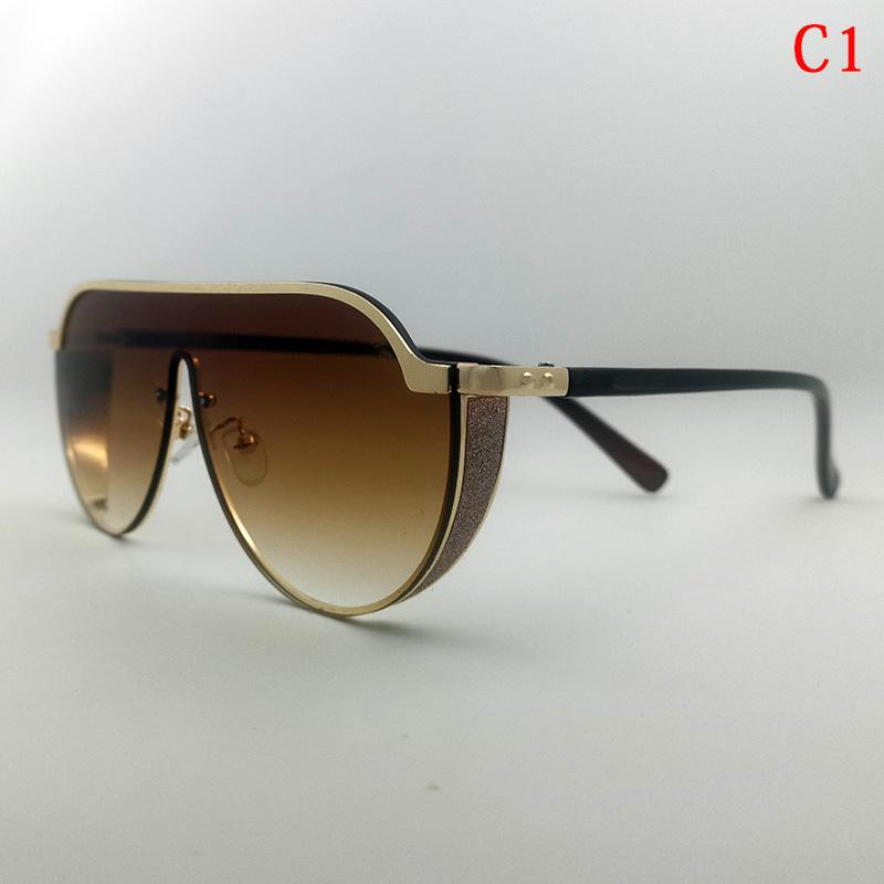 Mode Sonnenbrille Designer Sonnenbrille für Frau Herren Glas Strand Pilot Goggle Übergroße SonnenbrilleGifte