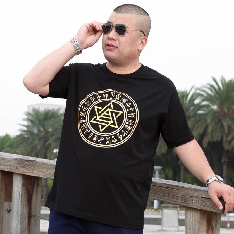 Balencaigakorean Grandes Grandes Cloxina Rodada Pescoço Algodão T-shirt de Manga Curta Com Gordura Extra, Loose e Moda PrintingDesigner