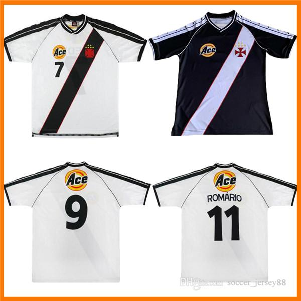 1999 2000 Vasco Retro Soccer Jerseys 99 00 Romario Jersey Maillots Camiseta Camisa De Futebol Miranda Dede Juninho Luizao Vintage Classic Football Shirt