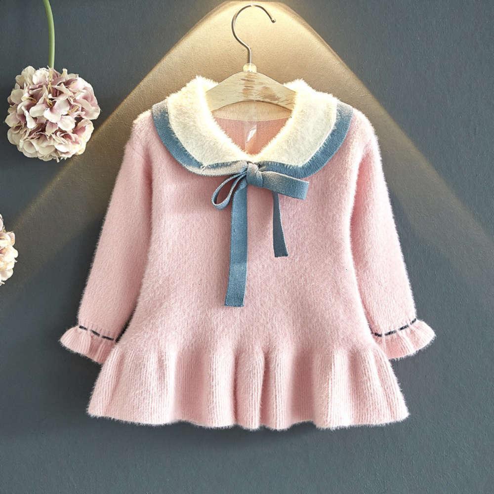 Robes Chaussures physiques Baby's Girls's Laine d'automne Hiver Mid longueur Mink Veet Veet tricoté Drys Jupe d'enfants