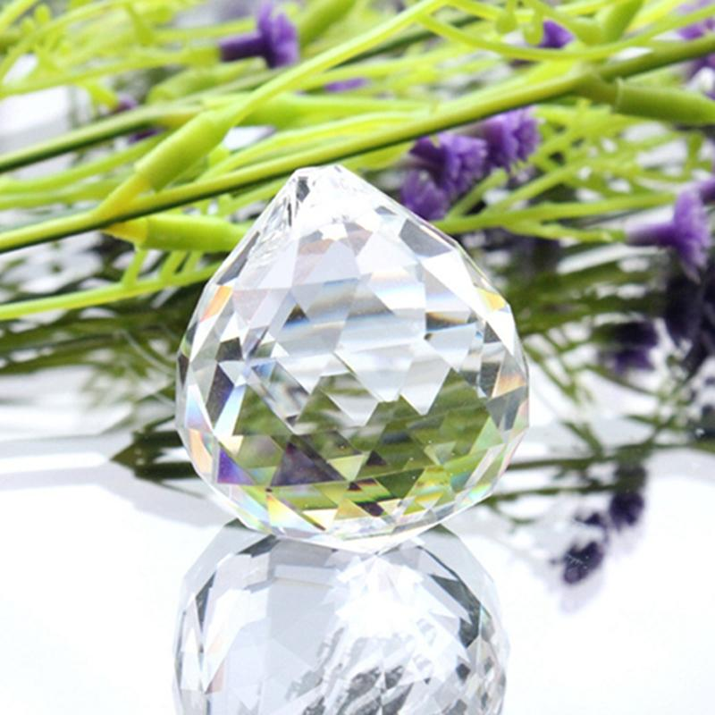 50 ملليمتر كريستال الكرة تزيين الزجاج واضحة كريستال الكرة prism قلادة واضحة الأوجه الخرز قوس قزح صانع الزفاف الرئيسية مكتب الديكور CCF6412