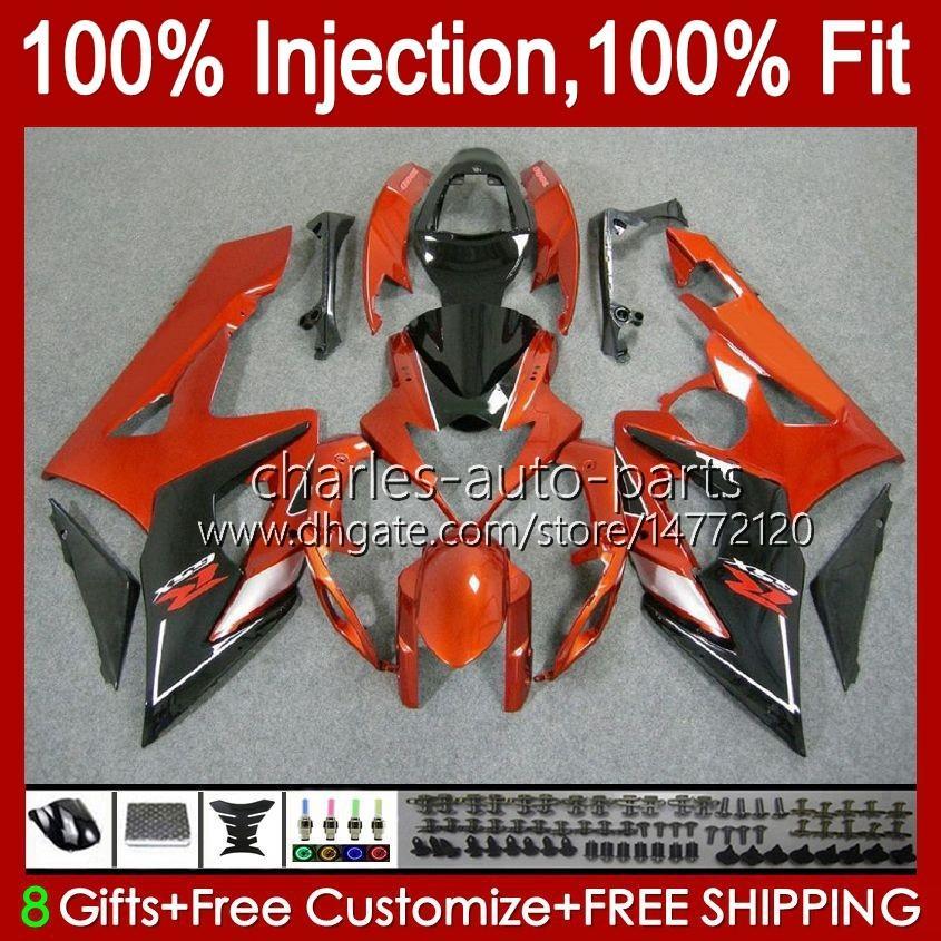 鈴木GSXR-1000 GSXR 1000 05 06 Bodywork 11HC.27 GSX-R1000 GSXR1000 05 06 K5 GSX R1000 2005 2006オレンジブラックフェアリングキット