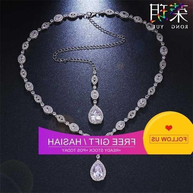 Cera de moda incrustado diamante zircão colar longo cadeia de volta
