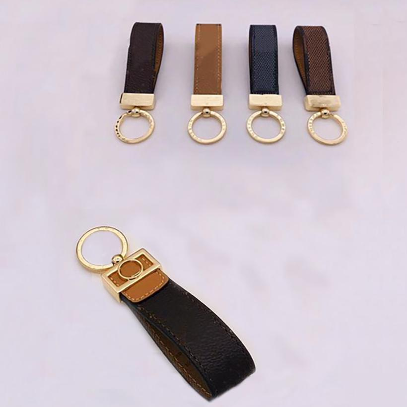 Party Gifts Fashion Luxurys Key Chain Buckle Lovers Car Keychain Handmade Leather Designers Keychains Men Women Bag Pendant Accessories 10 Color HH21-237