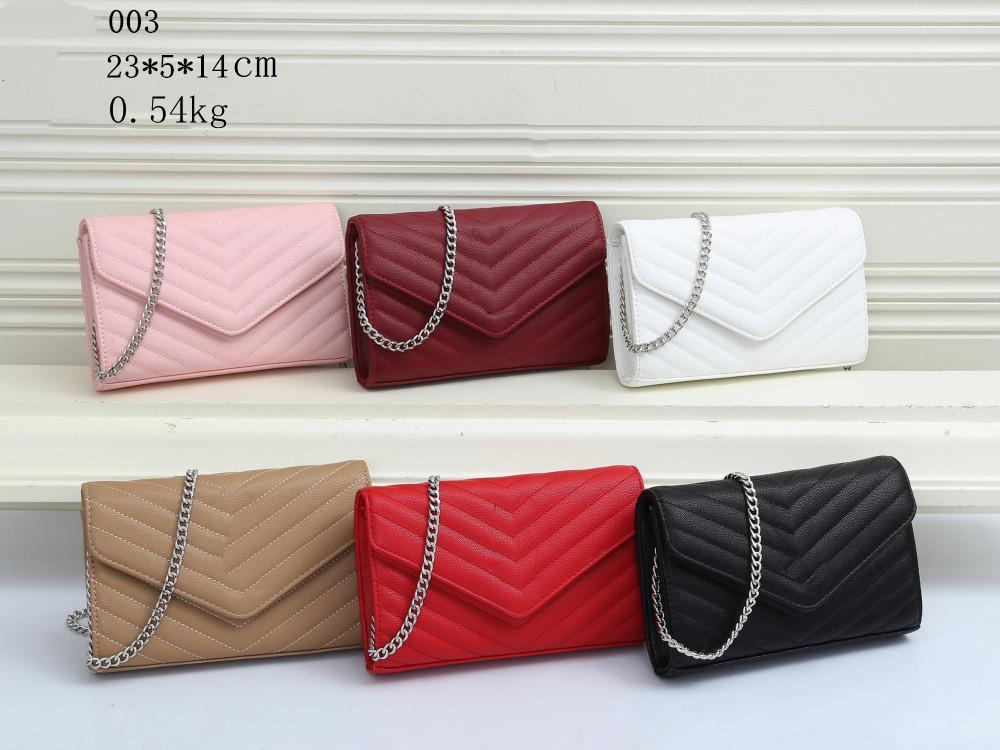 2021 New Fashion Handbag Ladies Designer Bolsas compuestas de Lady Clutch Hombro Tote Female Monedero High Qulity PU Cuero Metal Cadena Messenger Bags Bols Billet