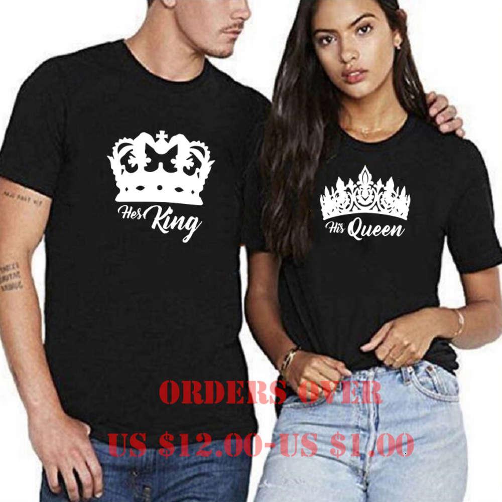 Tops King King Imprimer Vêtements Katoen Marque Casual Couleur O-Cou T-shirt