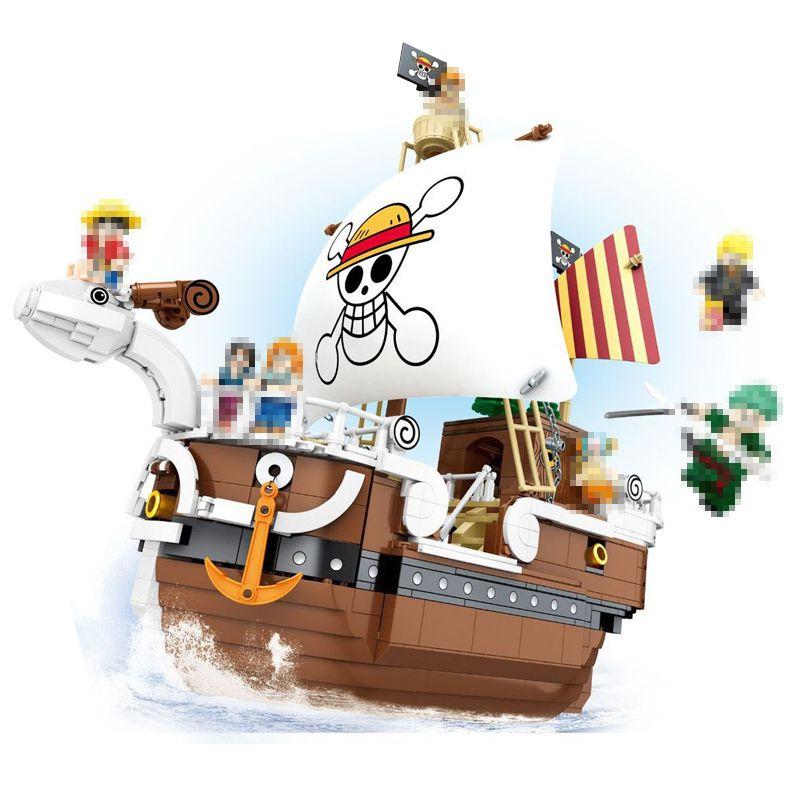 SY6297 One Piece Luffy Goest Marry Pirates Four Model Kits Строительные блоки Кирпичи Игрушка