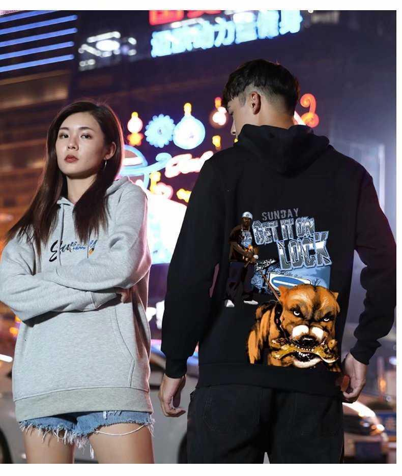 Men's Hoodies Fashion Designers Hooded Casual Pullover Dog Cartoon Couple's Sweatshirts Perfect for Jeans and Pants