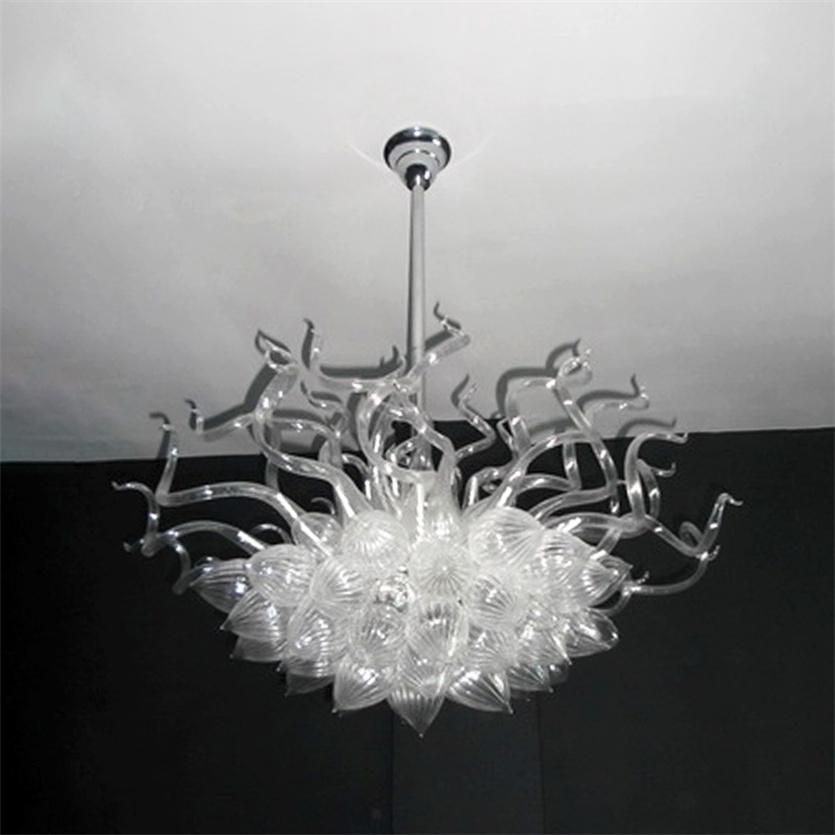 Lámparas colgantes LED Coloreado blanco 100% Hecho a mano Chandeliers Colgante Luz Fundición Duplex 32 * 32 pulgadas Oficina Sala de estar Art Deco Iluminación interior