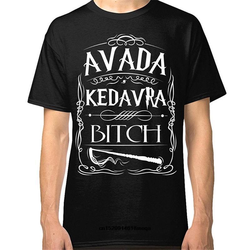 Erkek T-Shirt Komik T Shirt Erkekler T-Shirt Moda Gömlek Lanshitina Avada Kedavra Bitch Tee