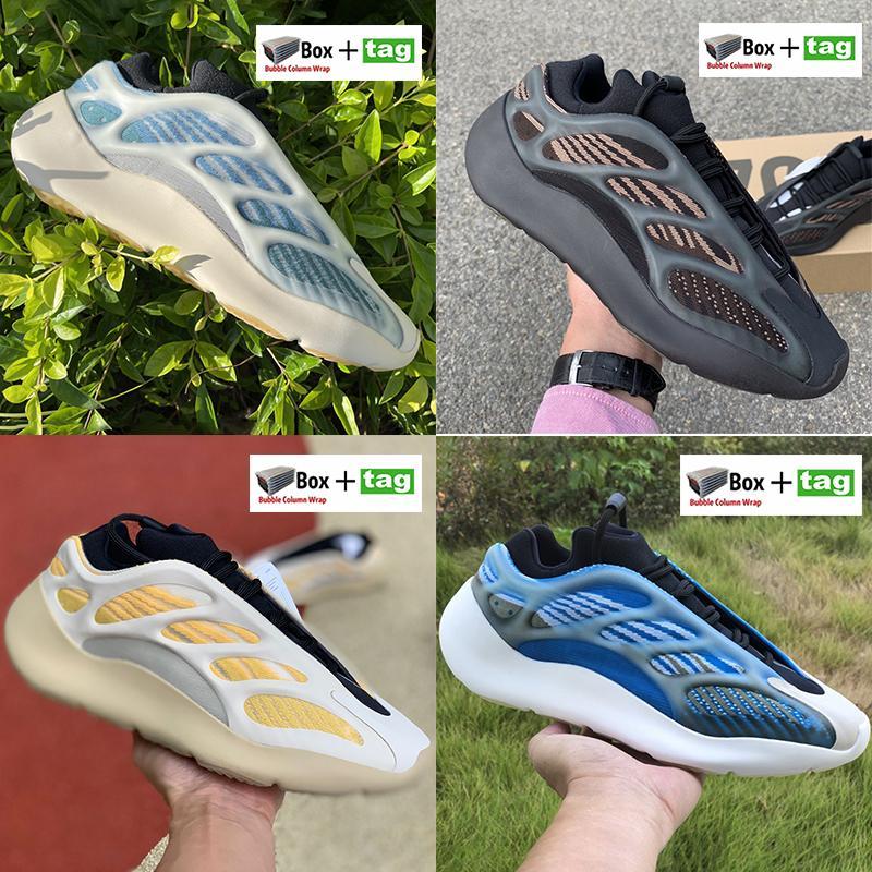 En iyi kalite Srphym 700 v3 Glow karanlık erkekler kadınların ayakkabı Azareth Alvah Azael yansıtıcı spor ayakkabıları iskelet koşu ayakkabıları içinde