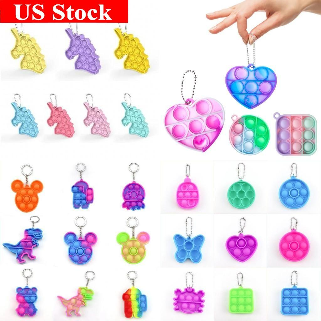 US Stock, Cravate Cype Simple Dimple Push Fidget Keychain Sensorioriel Sensorioriel Fidget Toys Toys Stress Bubble Keine Bague Push Bubble Board Pendentif