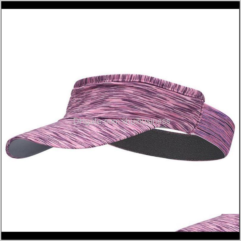 Sombreros de ala ancha gorras gorras, bufandas guantes de moda aessiesureunisex al aire libre ejecutando visor gorra multicolor diadema vacía top deportes sol sombrero l