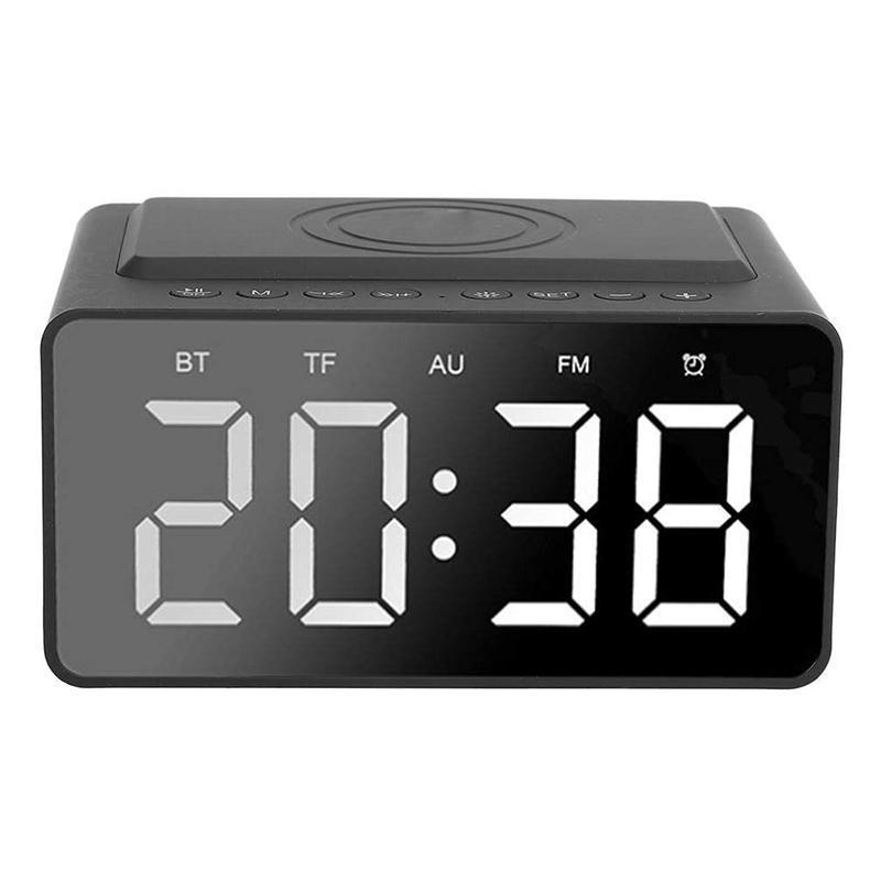 Réveil numérique, haut-parleur Bluetooth sans fil portable Stéréo Basse lourde avec affichage du temps de LED pour la chambre Autres horloges Accès Accès
