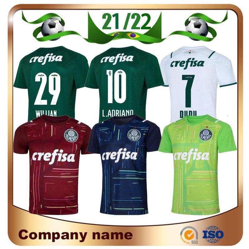 21/22 Palmeiras L.ADRI Soccer Jersey 2021 Home Green # 9 Borja قميص بعيدا Breno Lopes Dudu Ramires Home Home Home Home