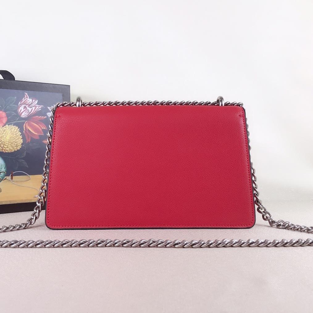 مصمم حقيبة كتف السيدات الكتف الفاخرة الكلاسيكية السيدات سلسلة رسول حقيبة الرجعية حقيبة يد جلدية 400249 مع مربع