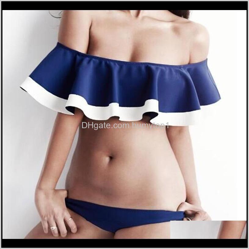 European And American Fashion Women Color Swimwear Lady Sexy Divided Body Swimsuit Two Piece Set Low Waisted Bikini 21Sh W Mg0Ua Twopi Kf2To