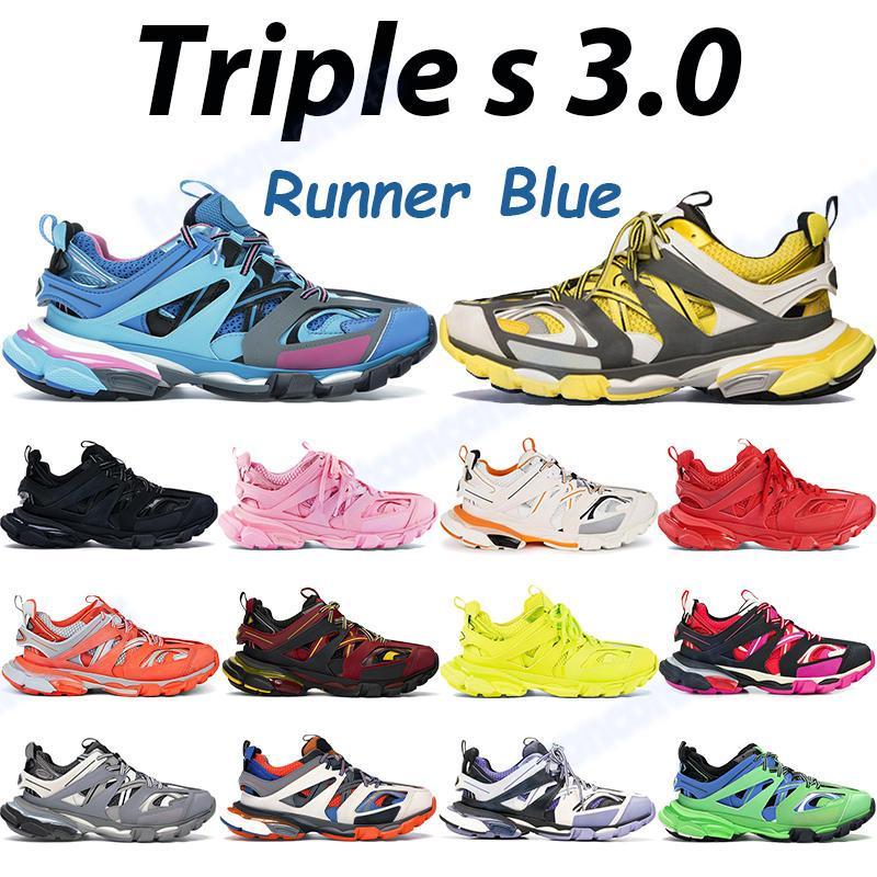 2021 triple s رجل عارضة أحذية رمادي عميق الوردي الأزرق المدرب الجير الأصفر الأسود الفوشيه البحرية أزياء الرجال النساء أحذية رياضية في الهواء الطلق chaussures
