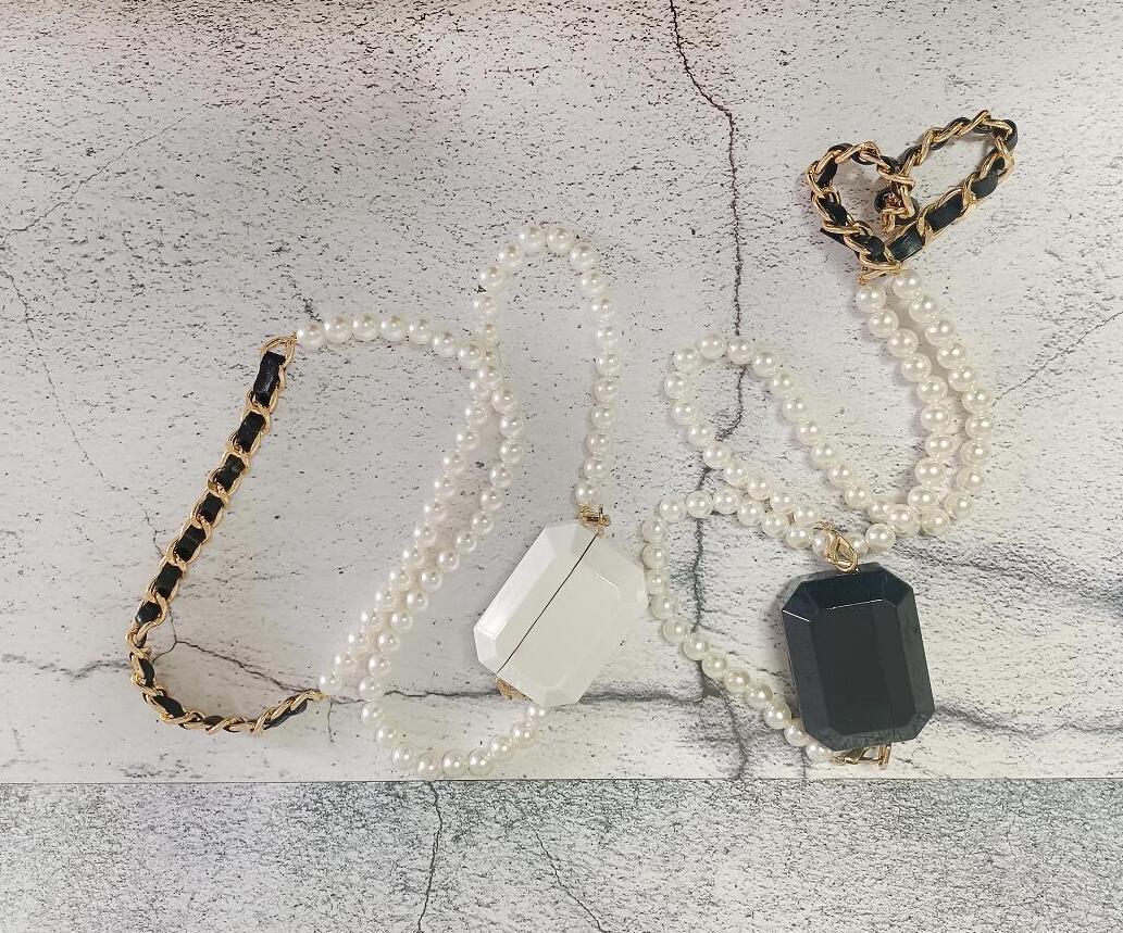Fshion Универсальный крест жемчужный цепь наушников для наушников мини-сумки модные аксессуары для женщин и девочка два варианта цвета