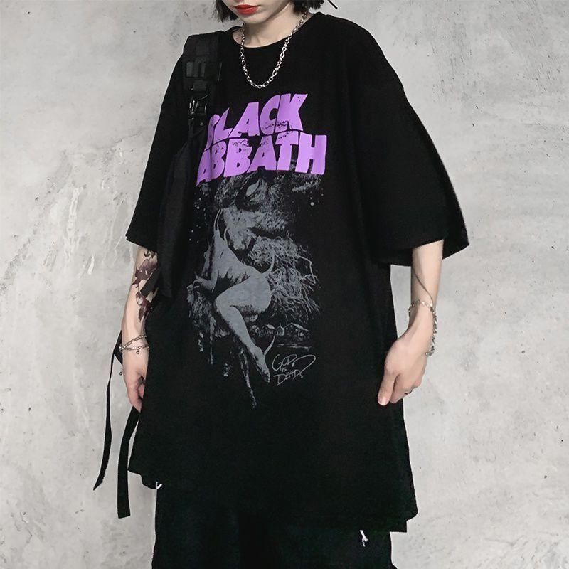 2021 Nouveau T-shirt à manches courtes HOP HOP Women's Summer Harajuku Loose Noir Grand Top de grande taille, T-shirt à la mode d'imprimerie