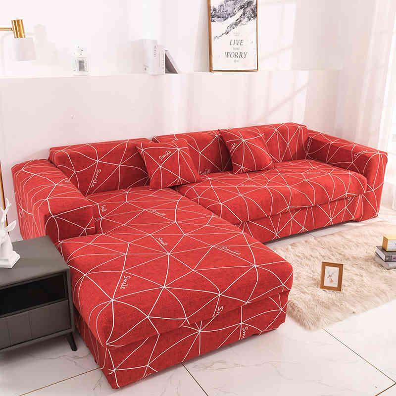 Elastico del divano geometrico Suit All Inclusive Tessuto Modern Princess Combination Cover Soggiorno