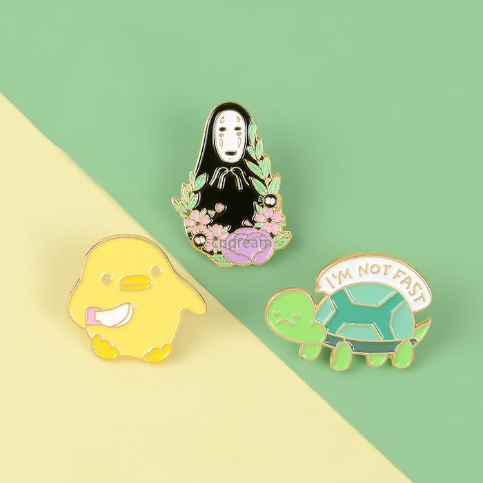 Animal chicken tortoise Brooch pins Enamel Lapel pin for women men Top dress cosage fashion jewelry will and sandy