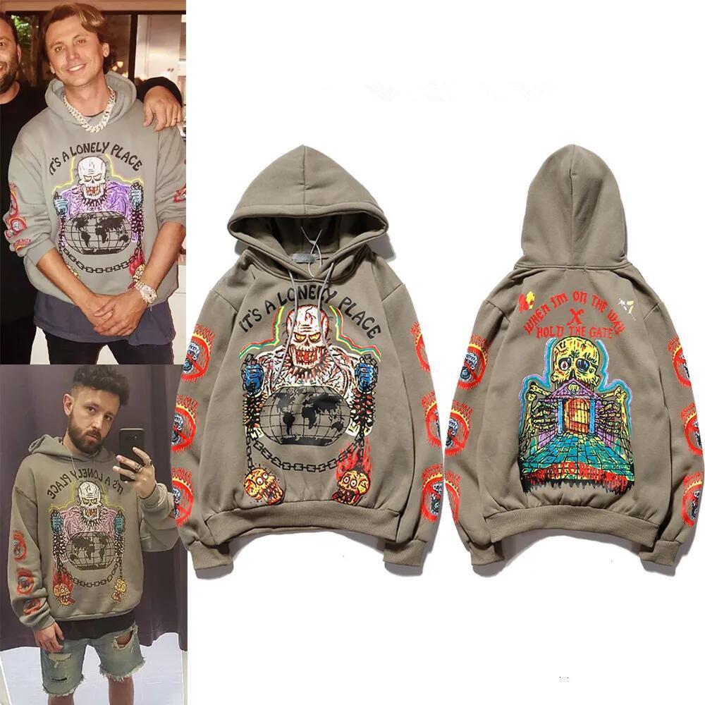 Европа и Соединенные Штаты Trend Swater Spring New Kanye мужская пуловер чистых хлопковых любителей моды свободные мужчины
