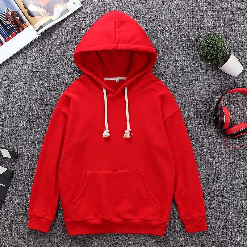Chaqueta de chándal de hombre suelto, traje de ocio red tiktok, rojo y abrigo, sombrero de color puro, suéter.