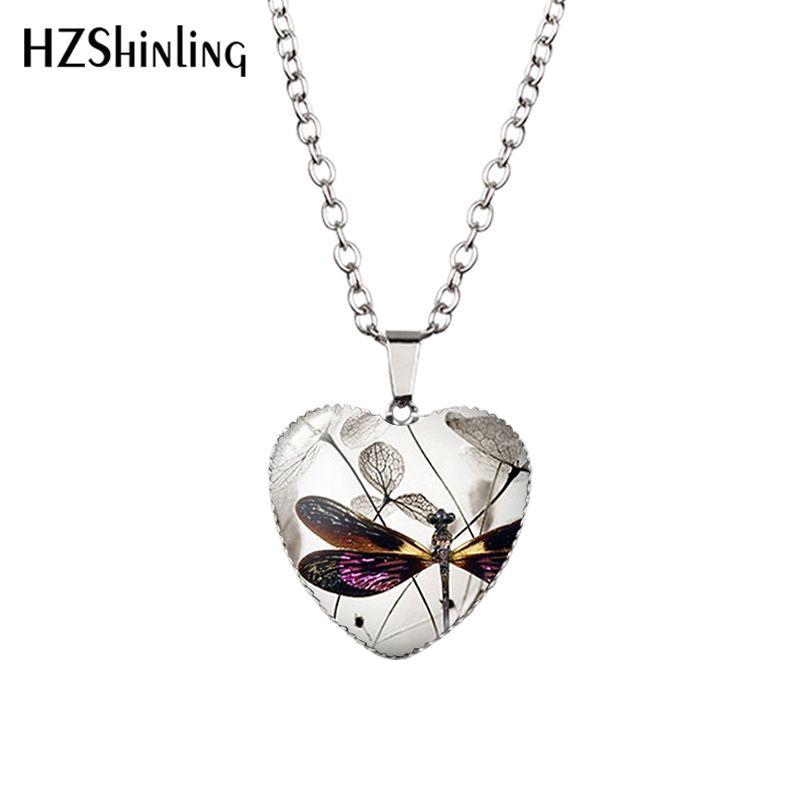 Yutong NOUVELLE NOUVEAU Steampunk Heart Coeur Collier Violet Pendentif Bijoux Murano Glass HZ3