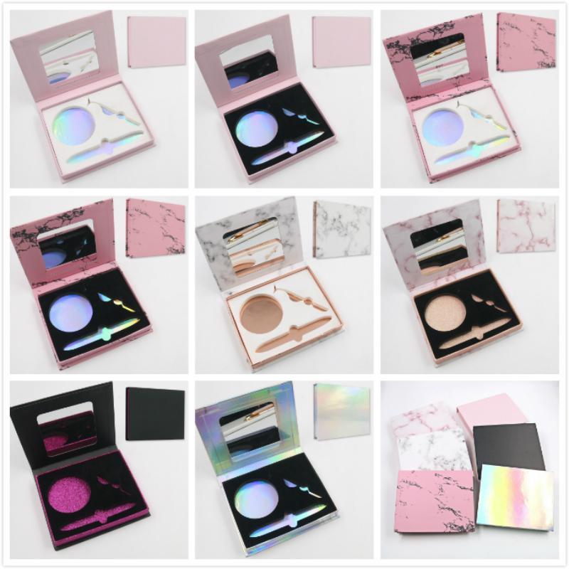 Wholesale Carboard Cosmetics False Eyelashes Packaging Prvate Label Makeup Eyelash Storage Boxes Empty Lashes Box Case Custom Logo