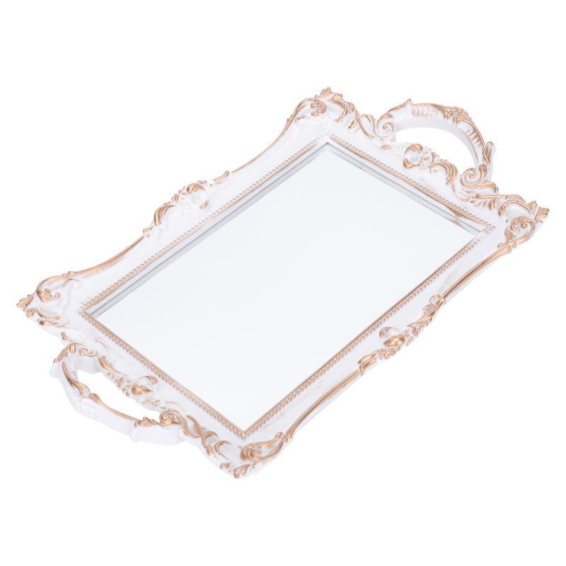 صناديق التخزين صناديق الرجعية معكوسة مجوهرات صينية الأوروبية مرآة مربع خمر لوحة مستحضرات التجميل ديكور سطح المكتب