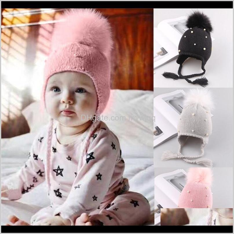 & Winter Born Infant Kids Baby Girls Hats Hair Ball Earbud Pearl Crochet Boys Warm Knit Caps For Girls1 3Wmpw Grsd7