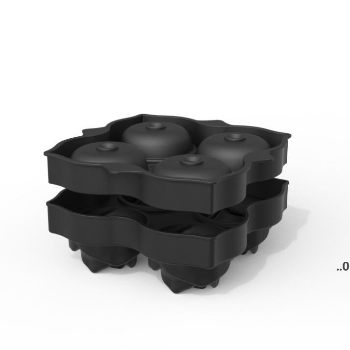 4 Gitter Rose Eiswürfel Tray Form Bar Produkte 3D Silikon Seife Kerze Formen Werkzeuge DIY Haushalt Icemaker Whiskywein Dekoration FWF9056