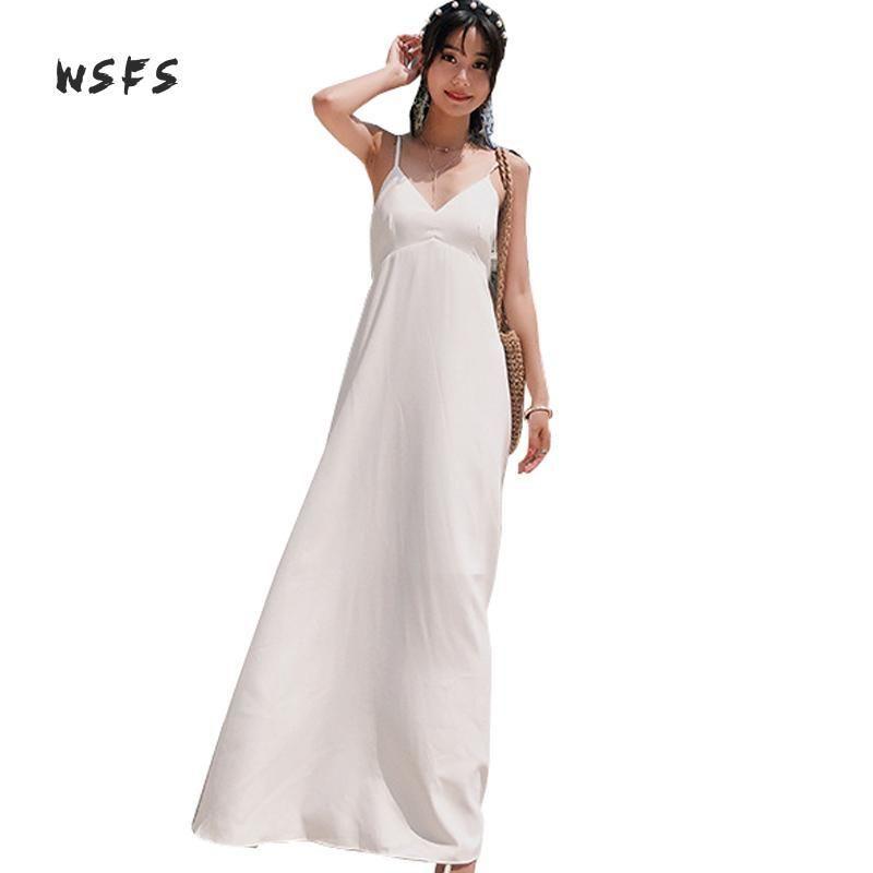 عارضة فساتين الصيف الأبيض الشاطئ vneck السباغيتي حزام عارية الذراعين بوهو النساء اللباس 2021 bodycon البوهيمي مثير باتري طويل vestidos