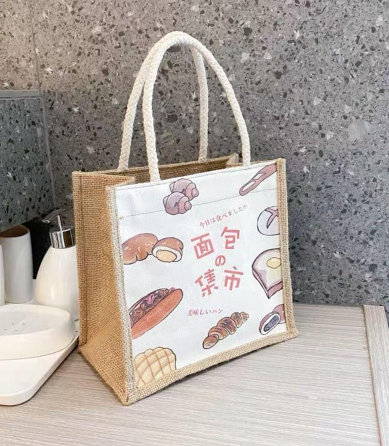 HBP 캔버스 레이디 귀여운 쇼핑 가방 간단한 핸드백 한 어깨 가방
